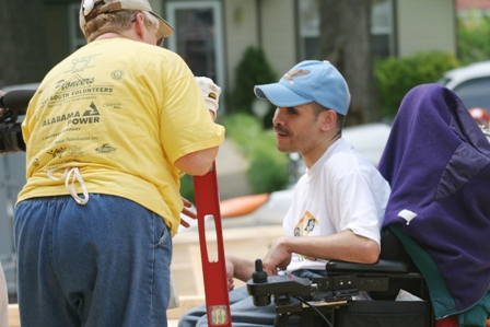 ABILITY House volunteer Birmington, AL