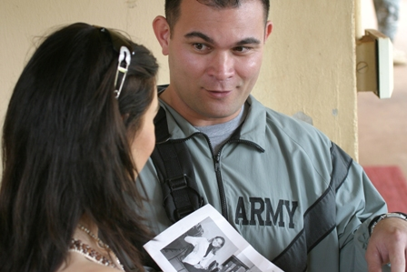 Miss Universe and Army Volunteer