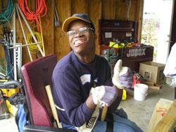, NC ABILITY House volunteer